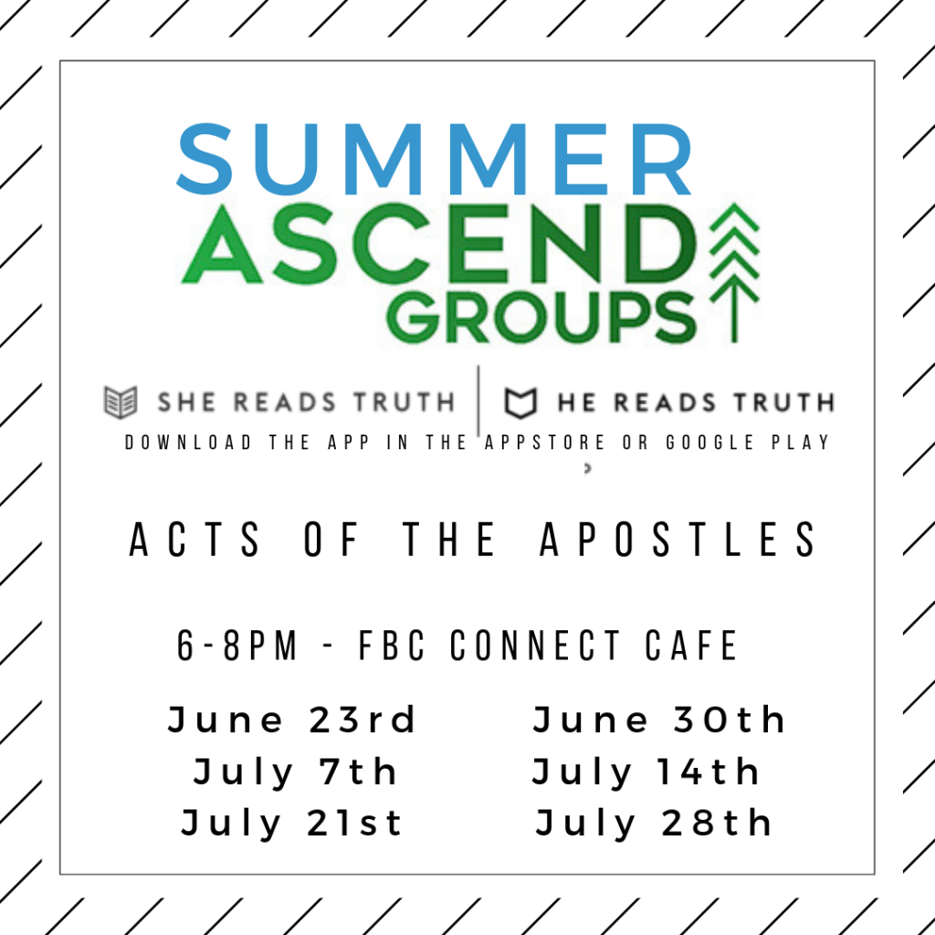 SUMMER ASCEND GROUPS MEETINGS