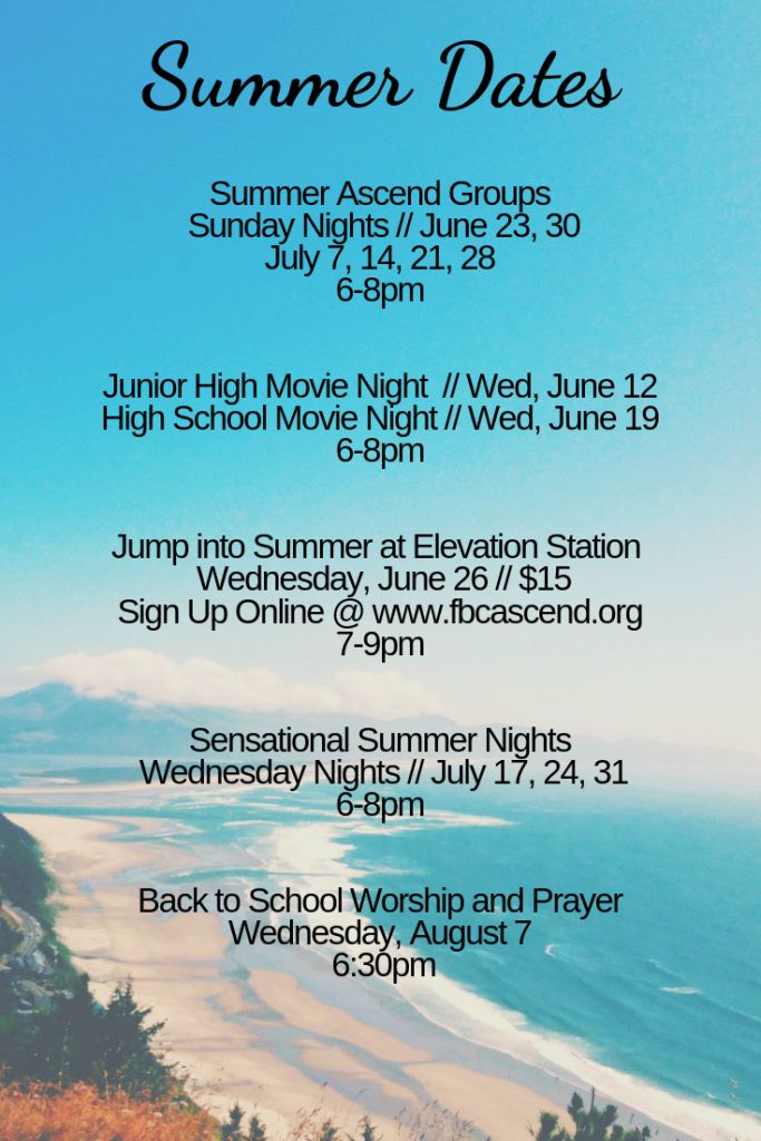 2019 Summer Events - Ascend Groups