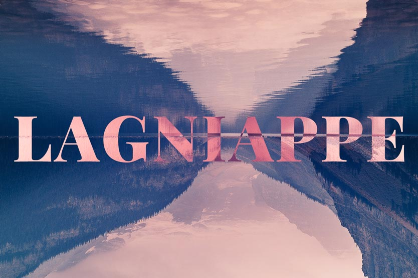 lagniappe text image with mountain range