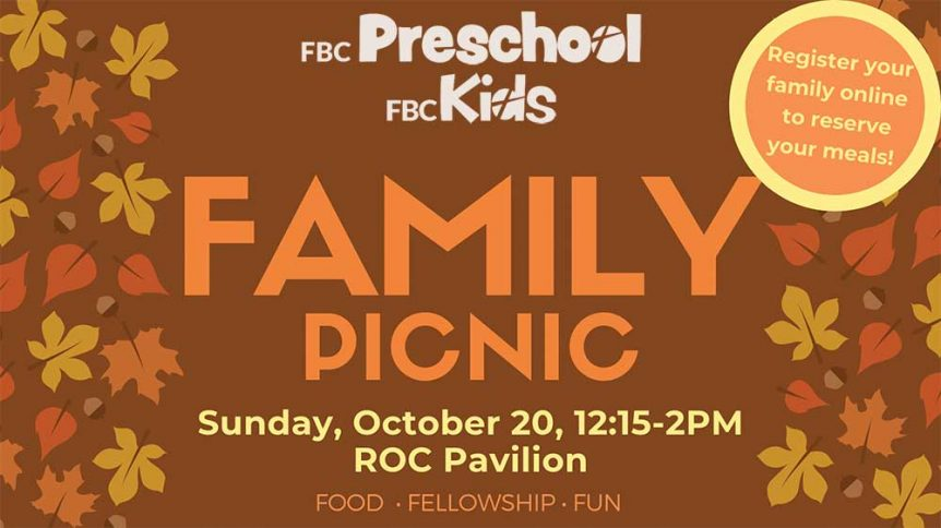 FBC Preschool and Kids Family Picnic Featured Image