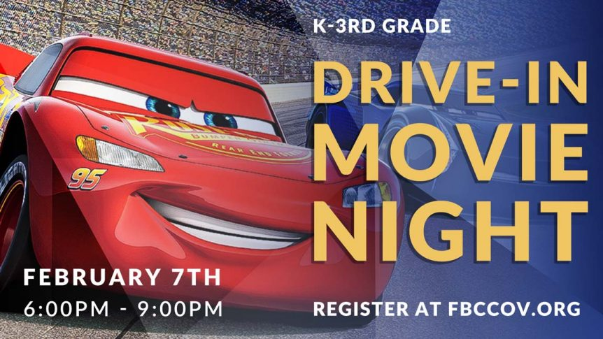 kids drive in movie night