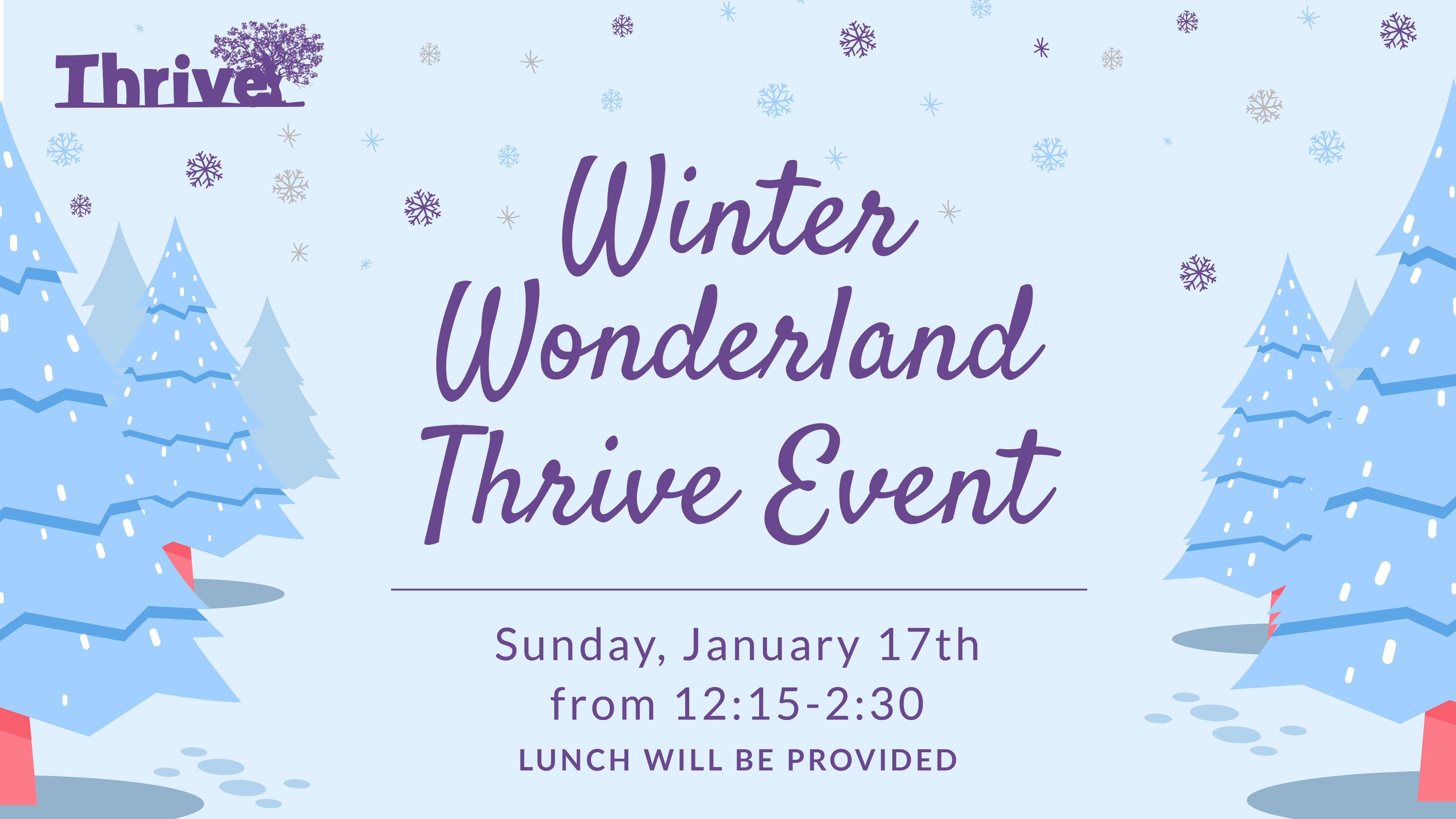 Winter Wonderland Thrive Event