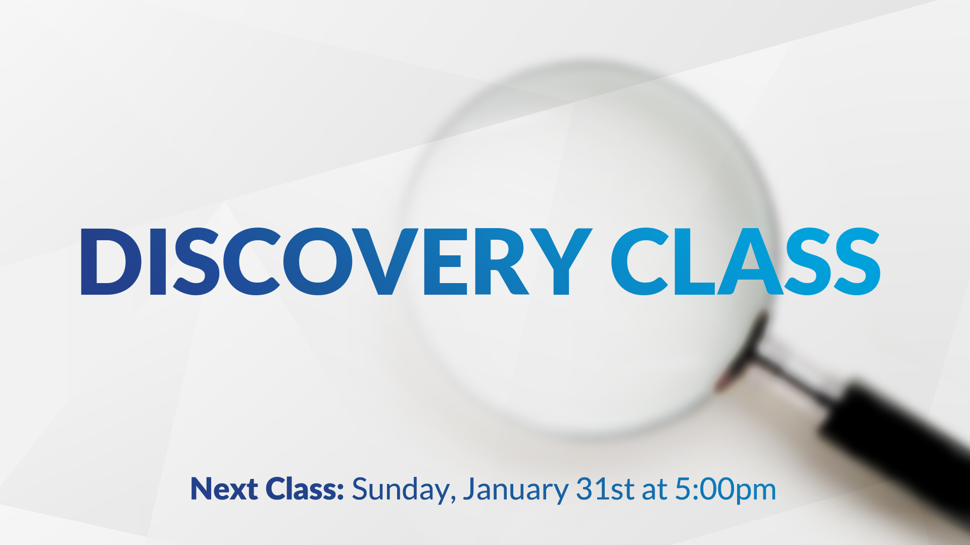 Discovery Class Register Here